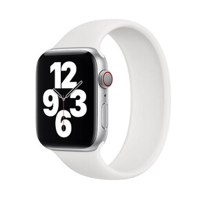 Купить Силиконовый монобраслет iLoungeMax Solo Loop White для Apple Watch 44mm | 42mm Size L OEM