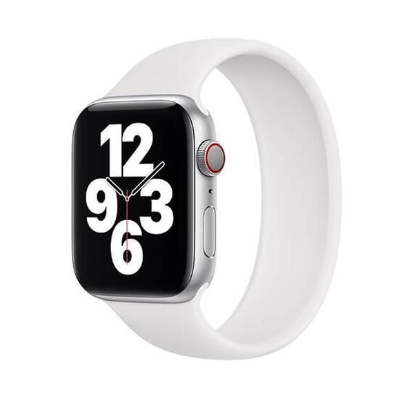 Силиконовый монобраслет iLoungeMax Solo Loop White для Apple Watch 44mm   42mm Size L OEM