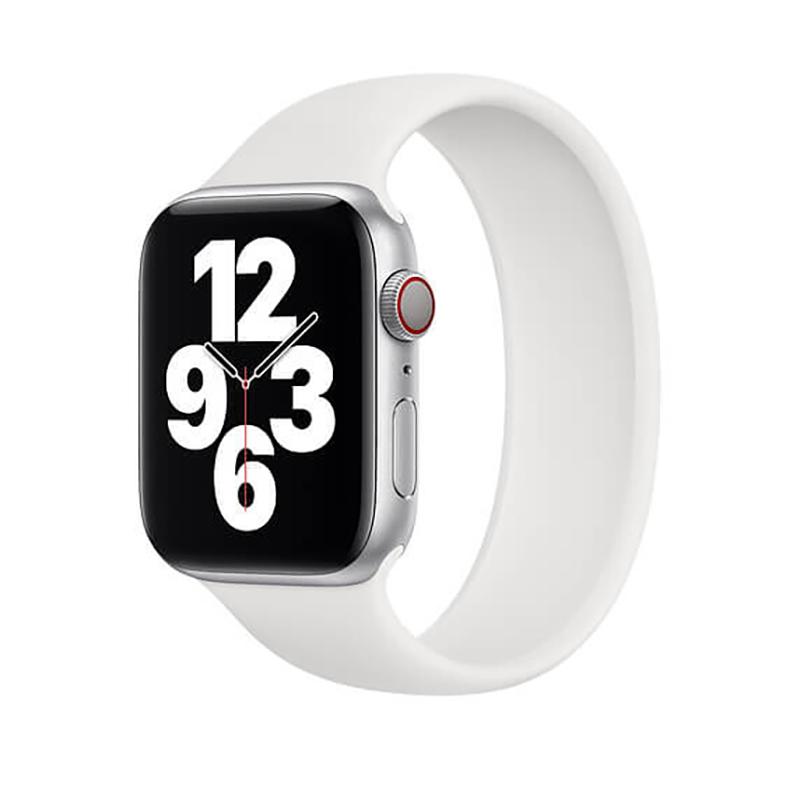 Купить Силиконовый монобраслет oneLounge Solo Loop White для Apple Watch 38mm | 40mm Size M OEM