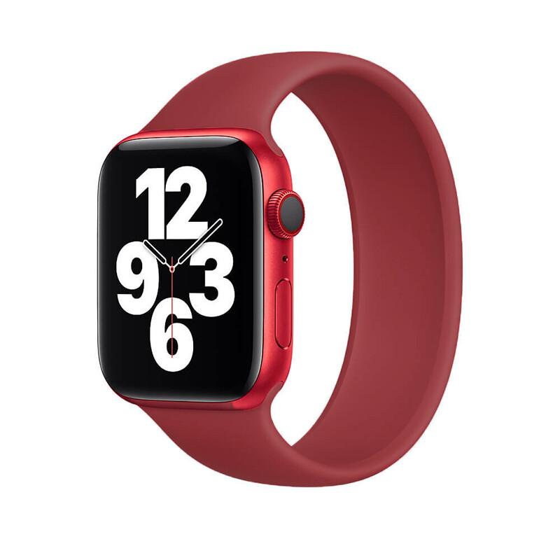 Силиконовый монобраслет iLoungeMax Solo Loop Wine для Apple Watch 38mm | 40mm Size M OEM
