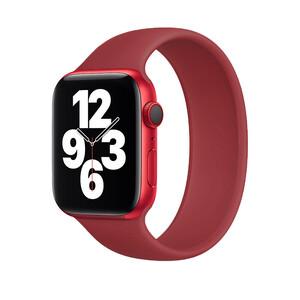Купить Силиконовый монобраслет oneLounge Solo Loop Wine для Apple Watch 38mm | 40mm Size L OEM