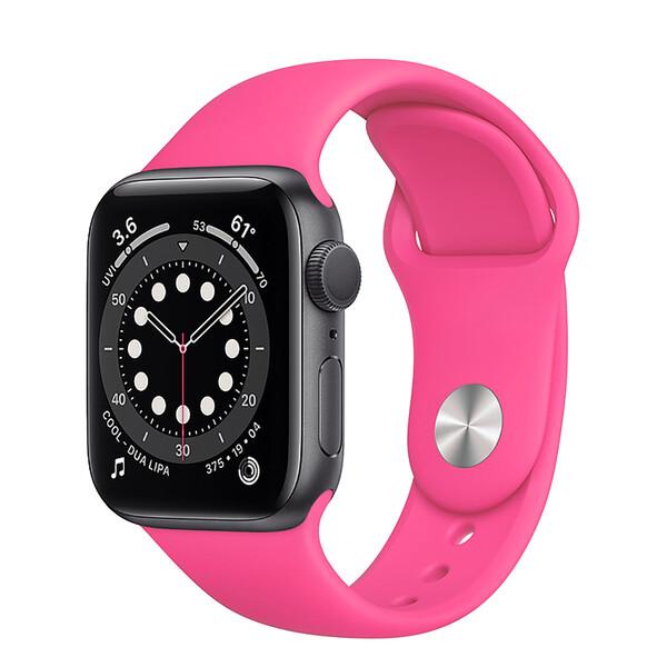 Ремешок iLoungeMax Sport Band 38mm | 40mm Barbie Pink для Apple Watch SE | 6 | 5 | 4 | 3 | 2 | 1 OEM