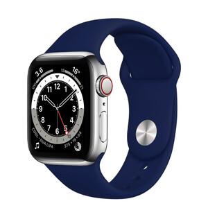 Ремінець iLoungeMax Sport Band 41mm   40mm   38mm Dark Blue для Apple Watch SE   7   6   5   4   3   2   1 OEM