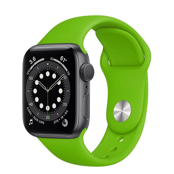 Ремешок iLoungeMax Sport Band 38mm | 40mm Grass Green для Apple Watch SE | 6 | 5 | 4 | 3 | 2 | 1 OEM
