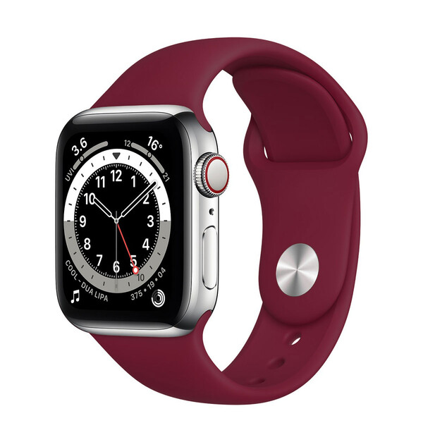 Ремешок iLoungeMax Sport Band 38mm | 40mm Marsala для Apple Watch SE | 6 | 5 | 4 | 3 | 2 | 1 OEM