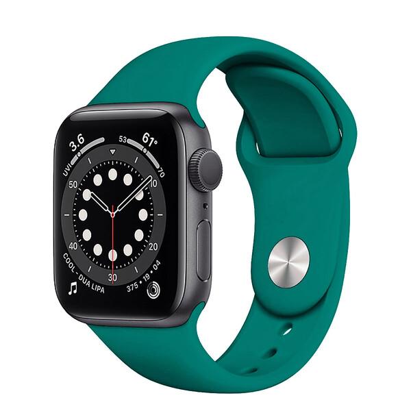 Ремешок iLoungeMax Sport Band 38mm | 40mm Pine Green для Apple Watch SE | 6 | 5 | 4 | 3 | 2 | 1 OEM