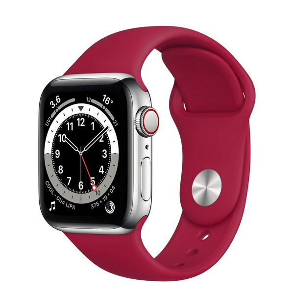 Ремешок iLoungeMax Sport Band 38mm | 40mm Rose Red для Apple Watch SE | 6 | 5 | 4 | 3 | 2 | 1 OEM