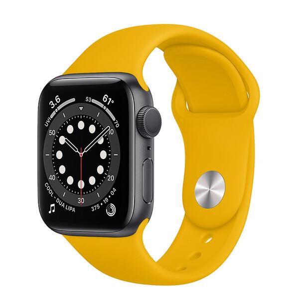 Ремешок iLoungeMax Sport Band 38mm | 40mm Yellow для Apple Watch SE | 6 | 5 | 4 | 3 | 2 | 1 OEM