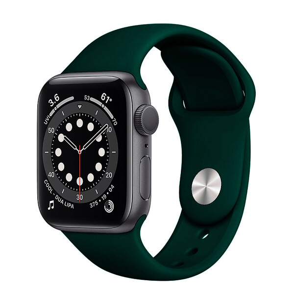 Ремешок iLoungeMax Sport Band 38mm | 40mm Forest Green для Apple Watch SE | 6 | 5 | 4 | 3 | 2 | 1 OEM