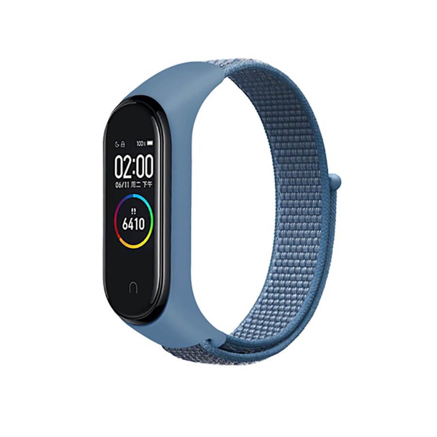 Купить Нейлоновый ремешок oneLounge Sport Loop Blue для Xiaomi Mi Band 5 | 6