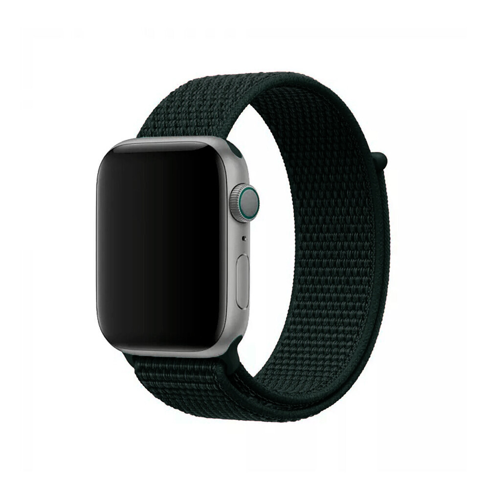 Ремешок iLoungeMax Sport Loop Forest Green для Apple Watch 40mm | 38mm SE | 6 | 5 | 4 | 3 | 2 | 1 OEM