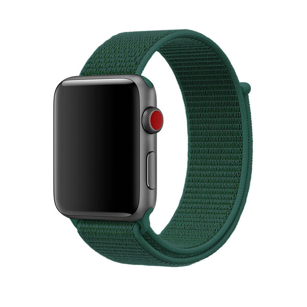 Ремешок iLoungeMax Sport Loop Forest Green для Apple Watch 42mm   44mm SE   6   5   4   3   2   1 OEM