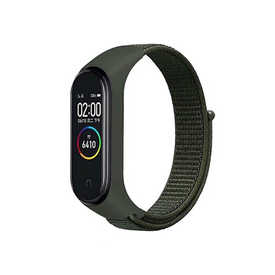 Купить Нейлоновый ремешок oneLounge Sport Loop Forest Green для Xiaomi Mi Band 5 | 6