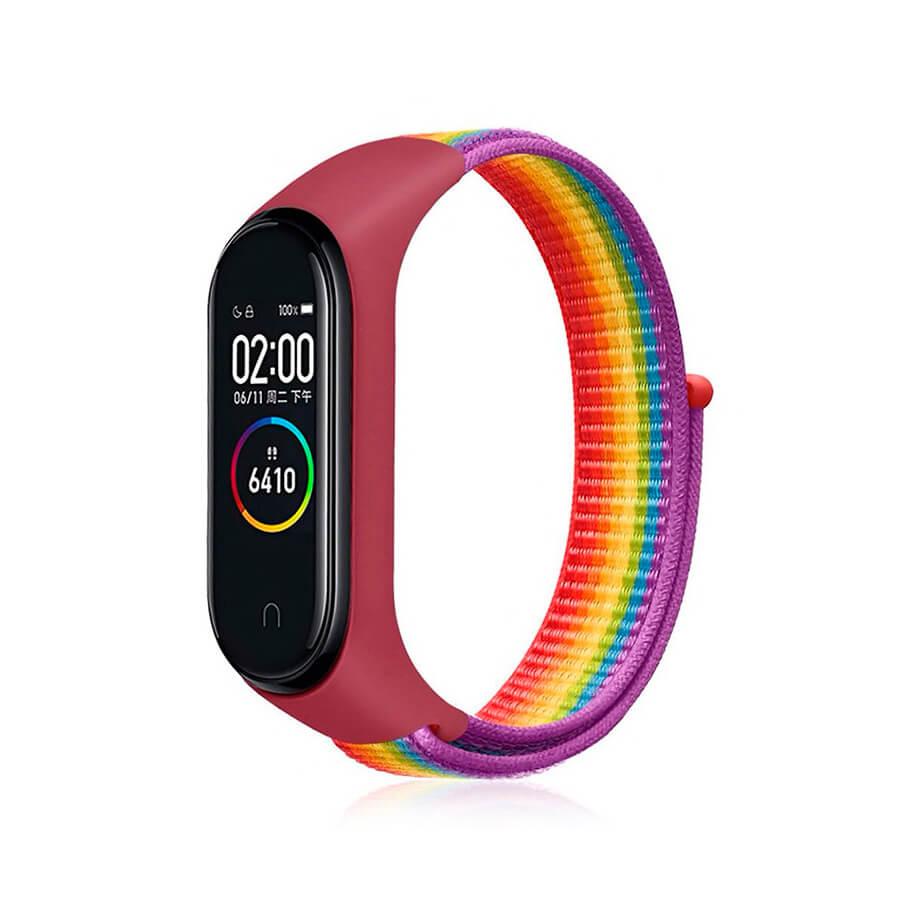 Купить Нейлоновый ремешок oneLounge Sport Loop Rainbow для Xiaomi Mi Band 5 | 6