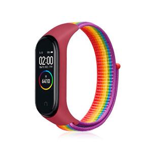 Купить Нейлоновый ремешок oneLounge Sport Loop Rainbow для Xiaomi Mi Band 5