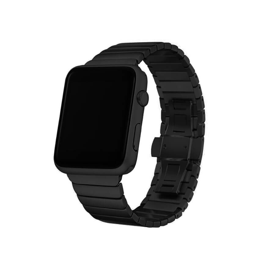 Металический ремешок oneLounge Stainless Metal Strap Black для Apple Watch 42mm | 44mm