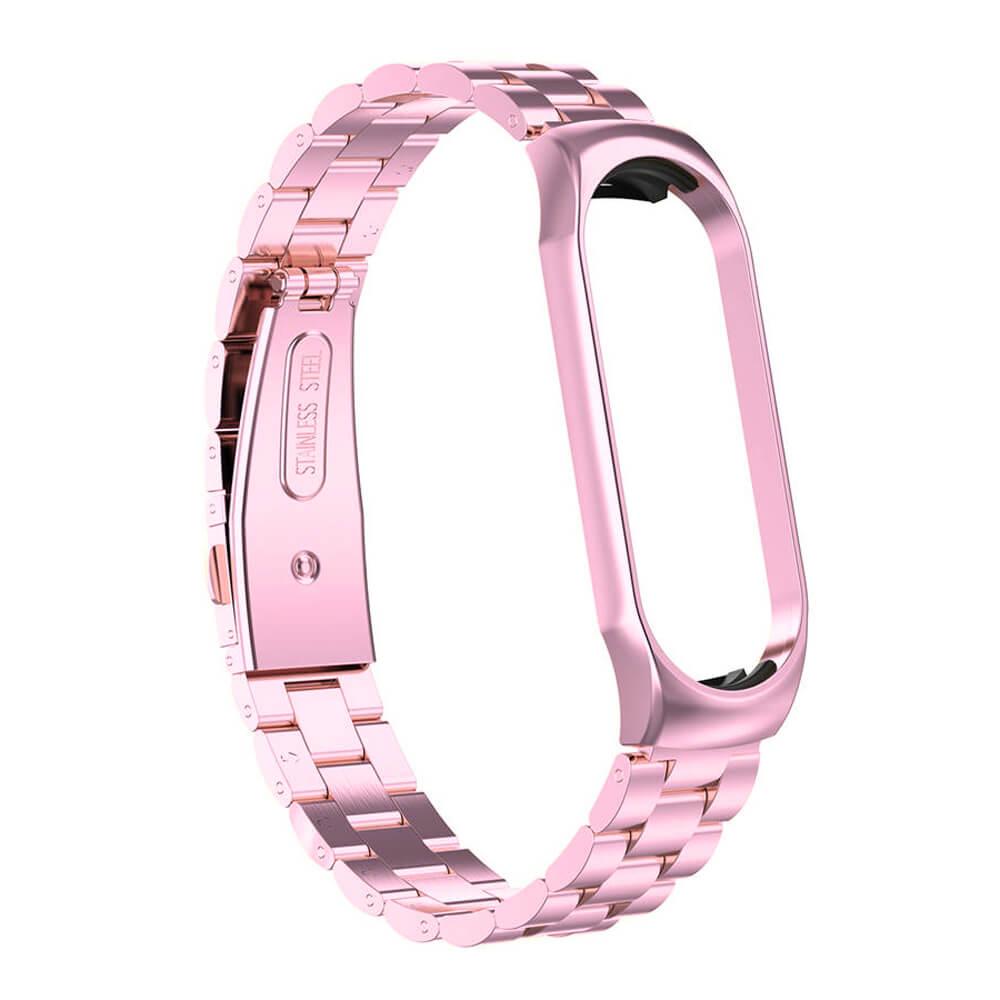 Купить Металлический ремешок oneLounge Stainless Metal Strap Pink для Xiaomi Mi Band 5 | 6