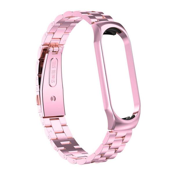 Металлический ремешок iLoungeMax Stainless Metal Strap Pink для Xiaomi Mi Band 5   6
