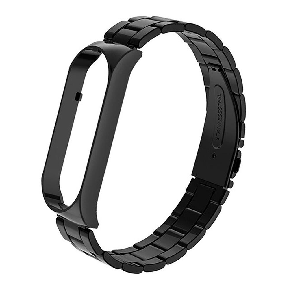 Купить Металический ремешок oneLounge Stainless Metal Strap Black для Xiaomi Mi Band 5 | 6