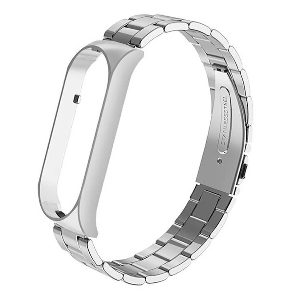 Металлический ремешок iLoungeMax Stainless Metal Strap Silver для Xiaomi Mi Band 5   6