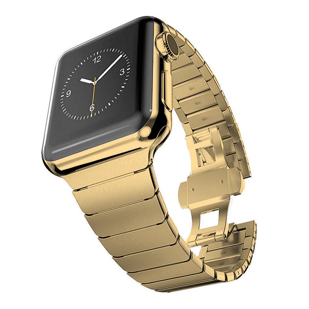 Металический ремешок iLoungeMax Stainless Metal Strap Gold для Apple Watch 42mm | 44mm