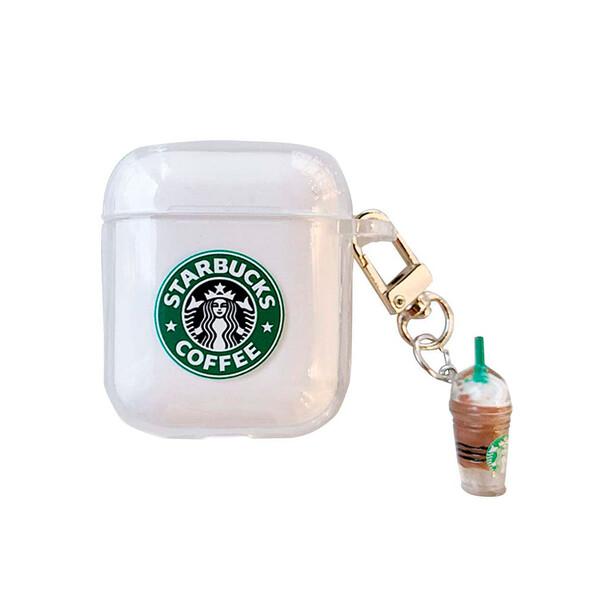 Силиконовый чехол с карабином iLoungeMax Starbucks для AirPods