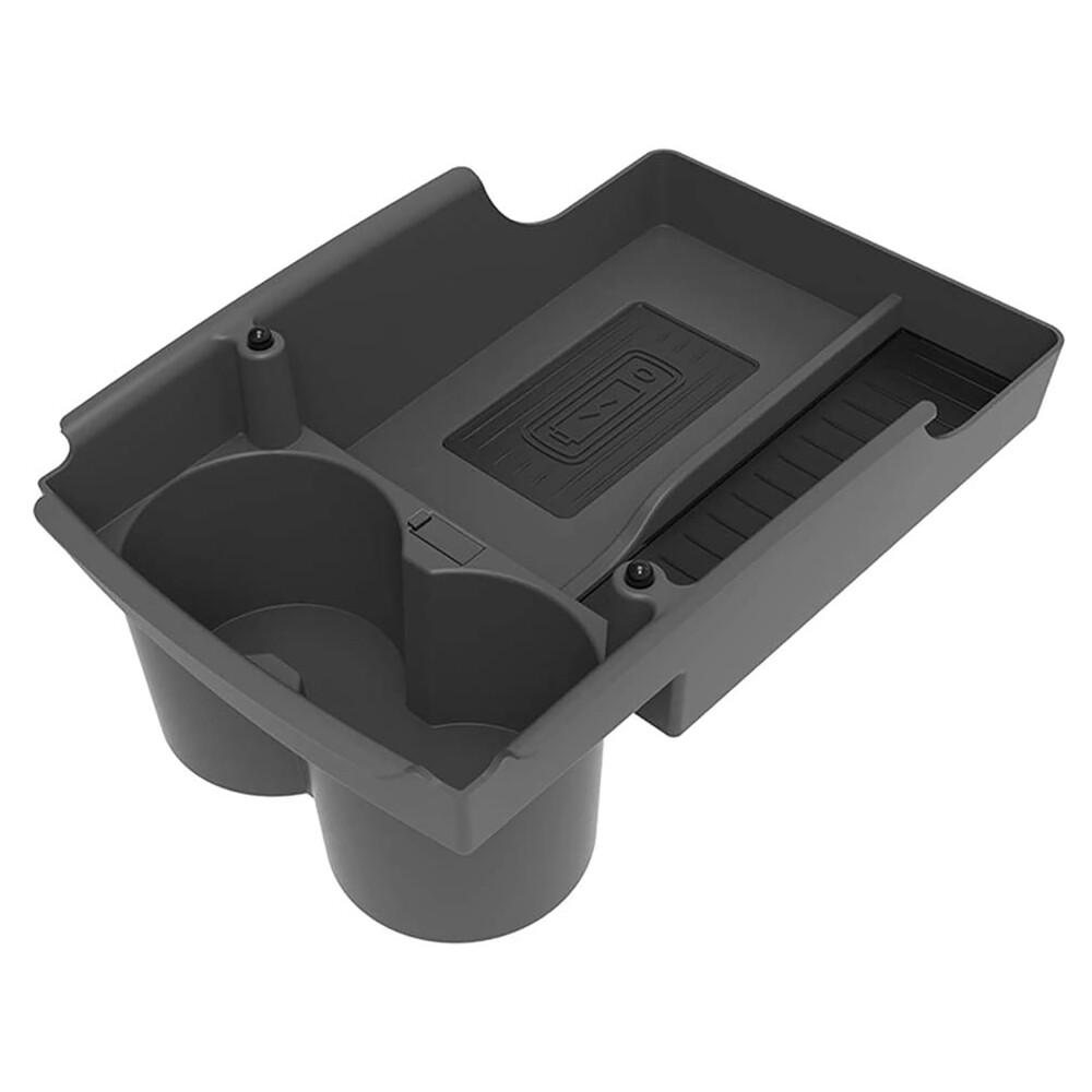 Купить Органайзер с подстаканником и беспроводной зарядкой oneLounge в центральную консоль для TESLA Model X | S