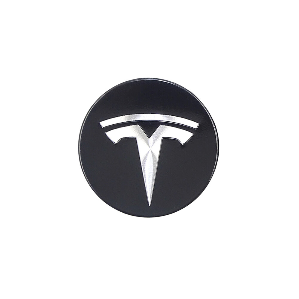 Купить Колпачки (заглушки) oneLounge на ступицы колеса TESLA Model X | S | 3 XWC1385-01 57 мм. Black / Silver (4 шт.)