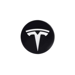 Купить Колпачки (заглушки) oneLounge на ступицы колеса TESLA Model X | S | 3 XWC1385-01 57 мм. Black / White (4 шт.)