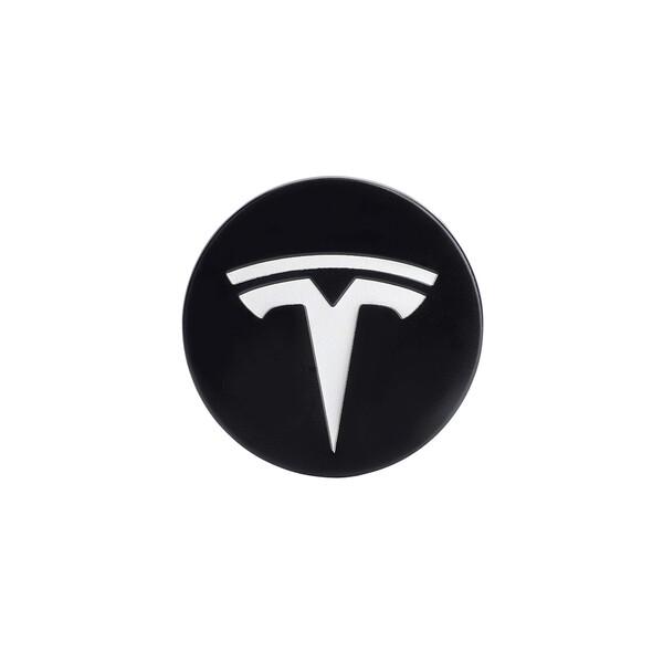 Колпачки (заглушки) iLoungeMax на ступицы колеса TESLA Model X   S   3 XWC1385-01 57 мм. Black / White (4 шт.)