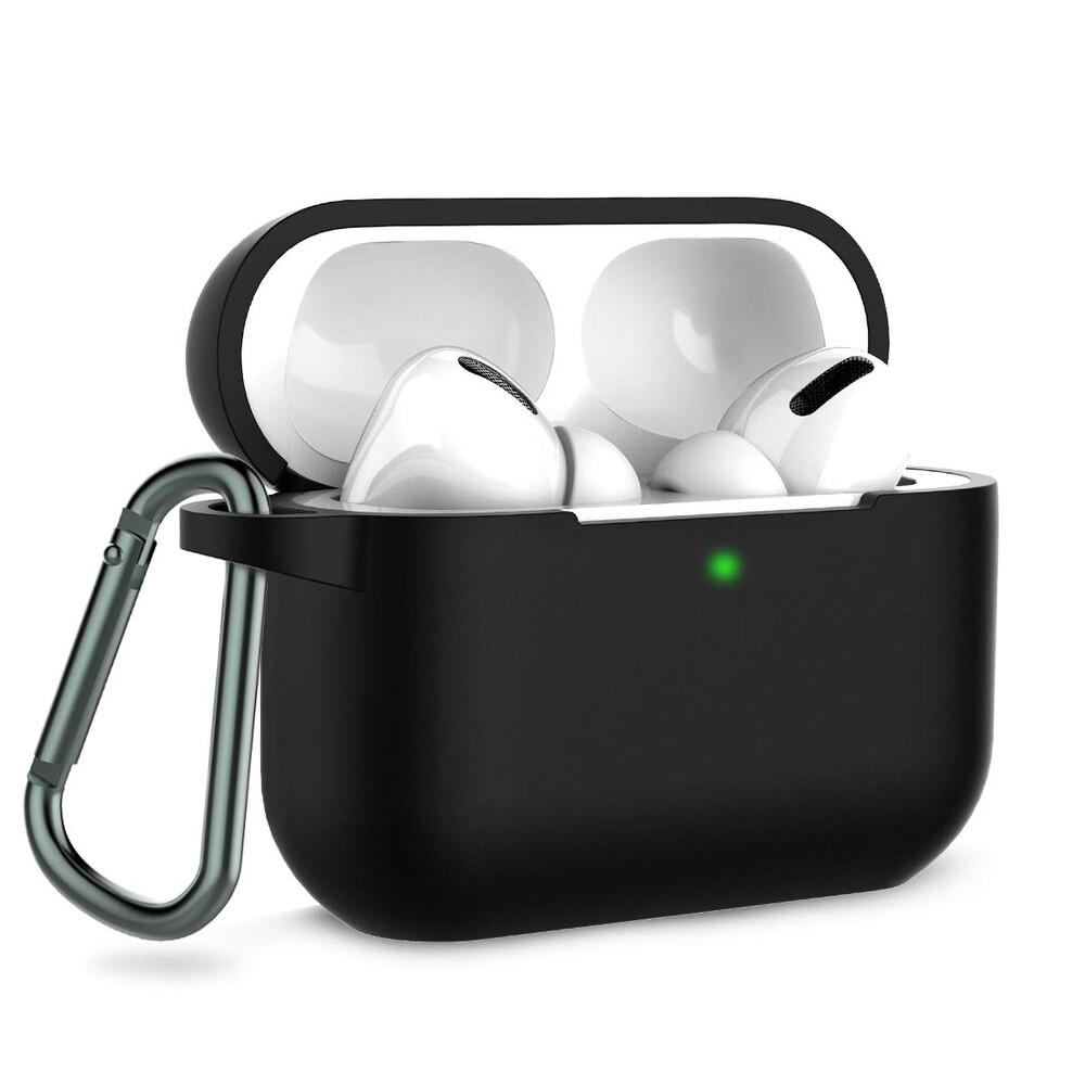 Купить Чехол с карабином oneLounge TPU Case Black для AirPods Pro