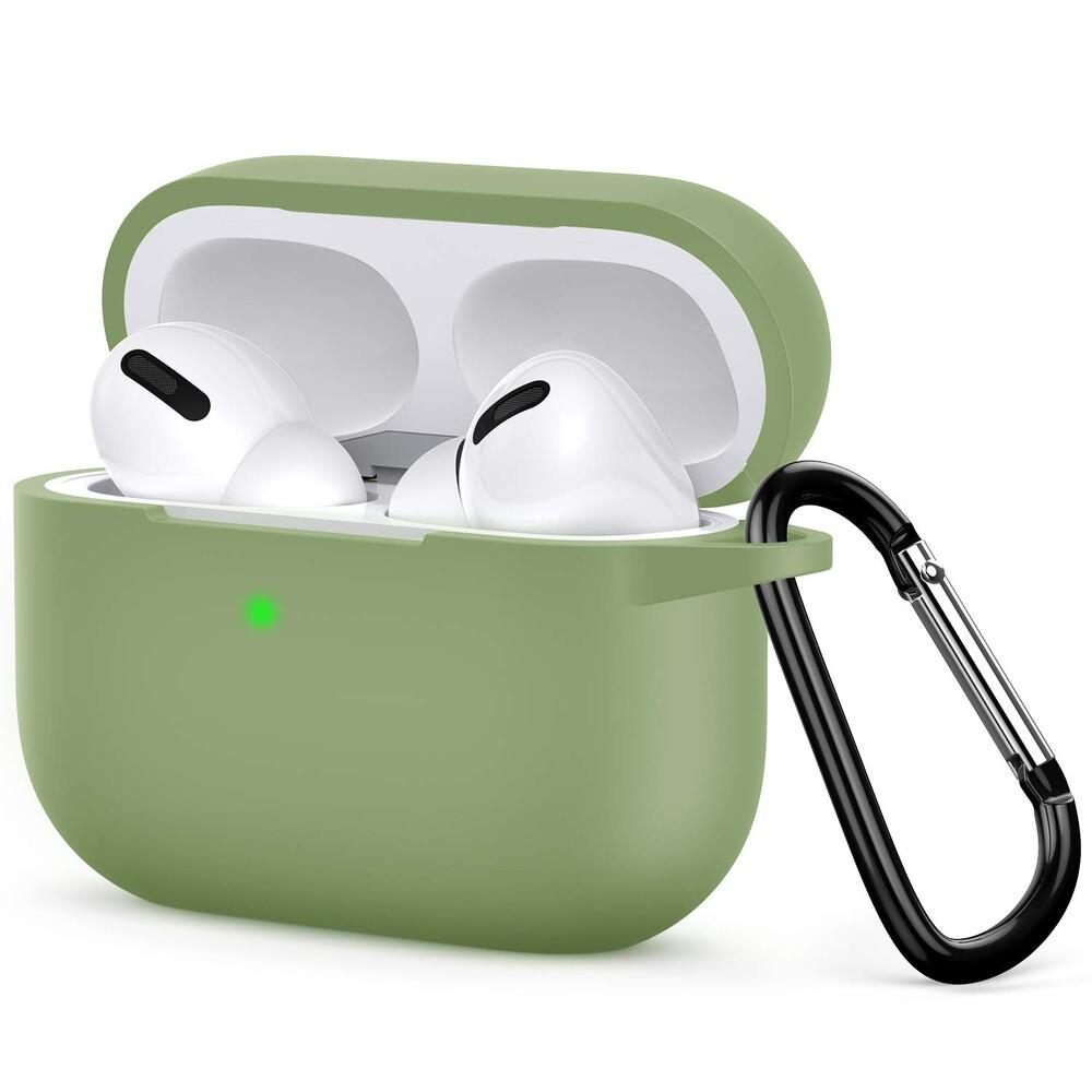 Чехол с карабином oneLounge TPU Case Light Green для AirPods Pro