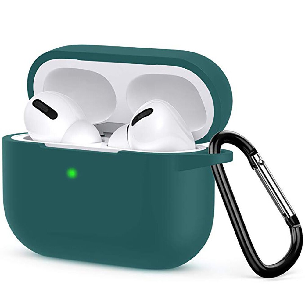 Чехол с карабином oneLounge TPU Case Dark Green для AirPods Pro