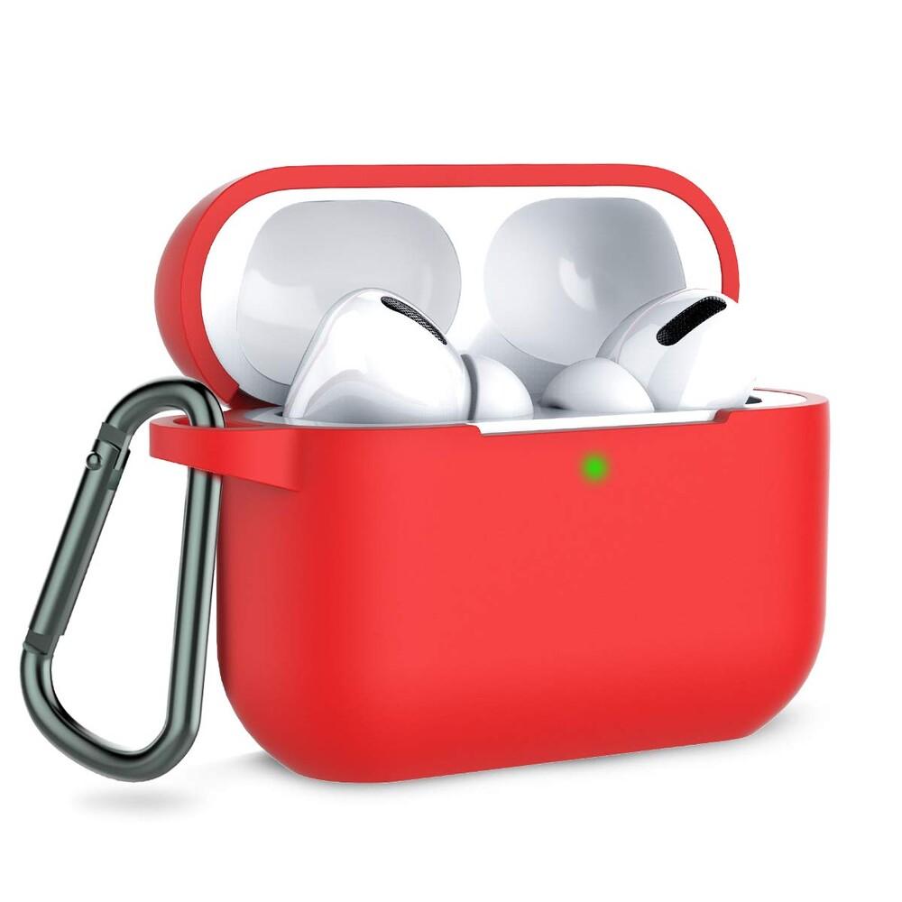 Чехол с карабином oneLounge TPU Case Red для AirPods Pro