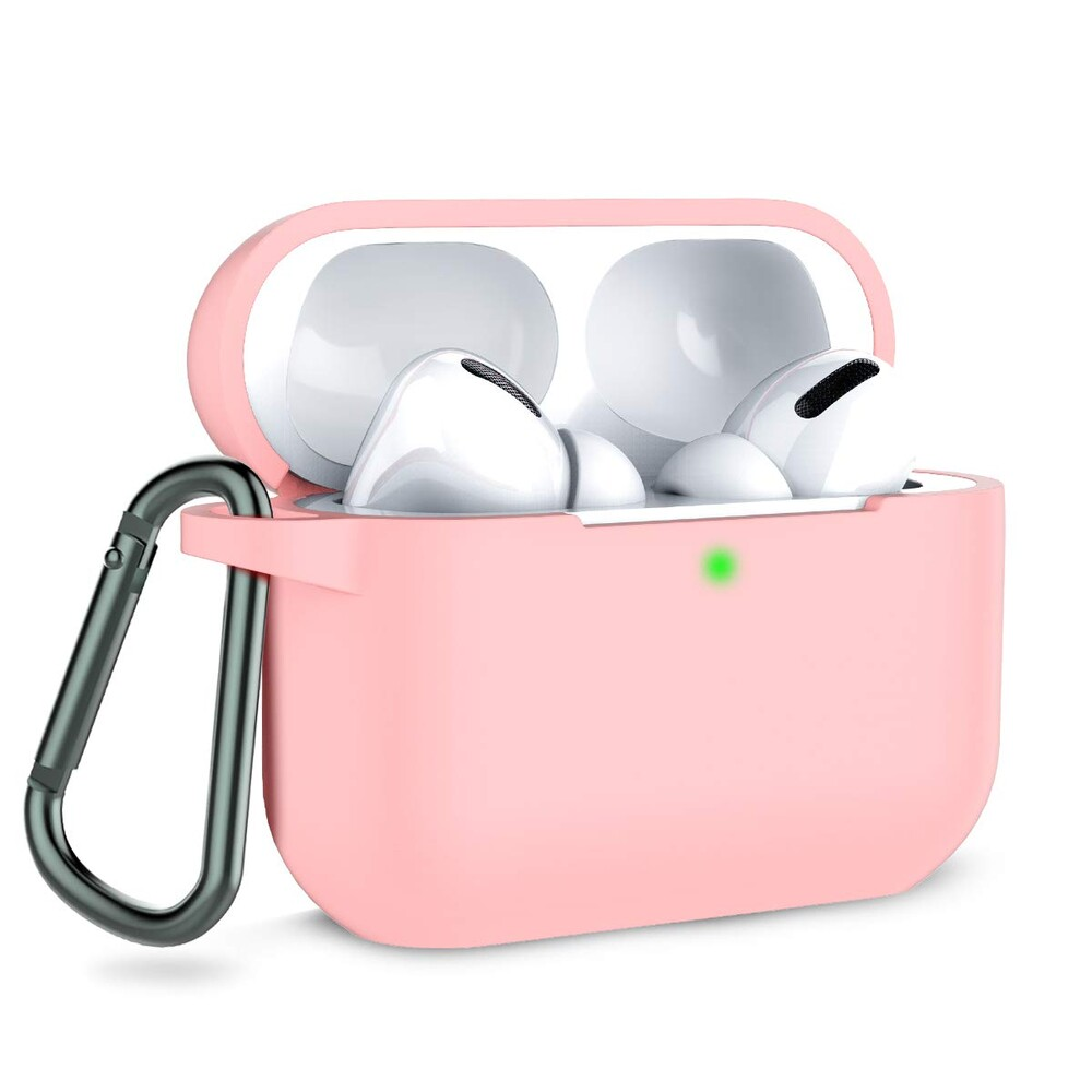 Чехол с карабином iLoungeMax TPU Case Pink для AirPods Pro