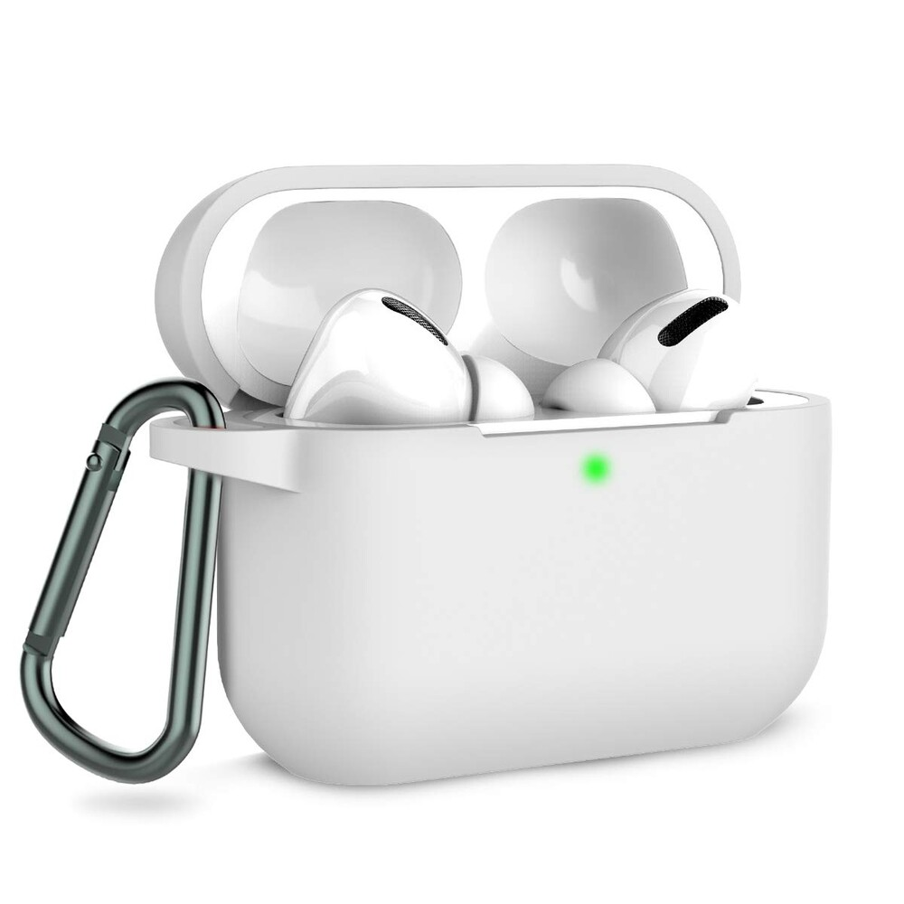 Купить Чехол с карабином oneLounge TPU Case White для AirPods Pro