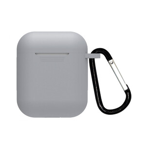 Купить Серый силиконовый чехол с карабином oneLounge TPU Case Gray для AirPods 2/1