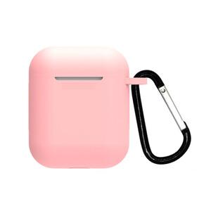 Купить Розовый силиконовый чехол с карабином oneLounge TPU Case Light Pink для AirPods 2/1