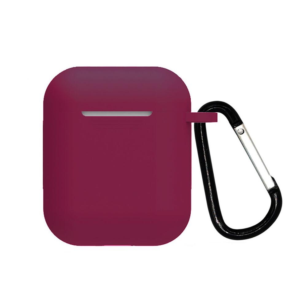 Силиконовый чехол с карабином iLoungeMax TPU Case Cherry для AirPods 2 | 1