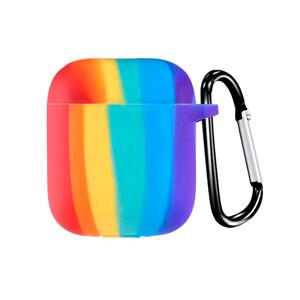 Купить Силиконовый чехол с карабином oneLounge TPU Case Rainbow для AirPods 2 | 1