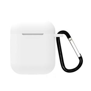 Купить Белый силиконовый чехол с карабином oneLounge TPU Case White для AirPods 2 | 1