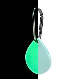 Купить Светящийся брелок с карабином iLoungeMax Water Droplets Silicone Case Luminous для Apple AirTag