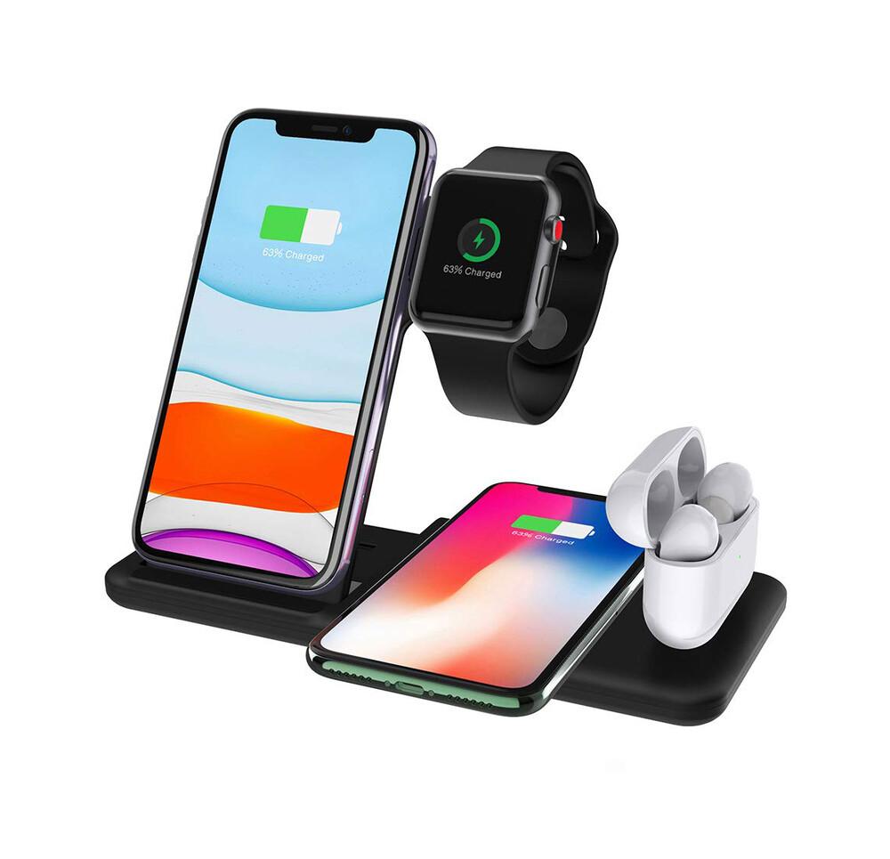 Беспроводная док-станция iLoungeMax Wireless Station 4 в 1 для iPhone   Samsung   Apple Watch   AirPods