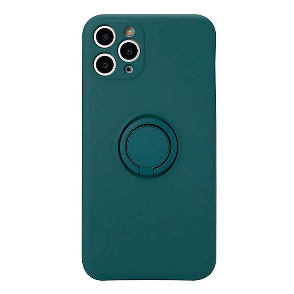 Силиконовый чехол с кольцом iLoungeMax With Ring Forest Green для iPhone 11 Pro Max