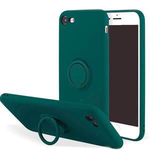Купить Силиконовый чехол с кольцом iLoungeMax With Ring Forest Green для iPhone 7   8   SE 2
