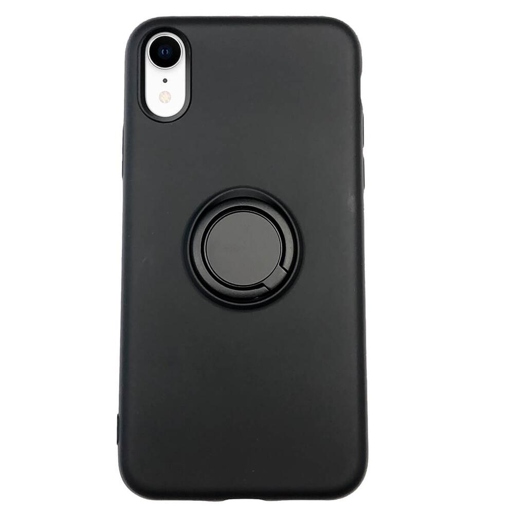 Силиконовый чехол с кольцом iLoungeMax With Ring Black для iPhone XR