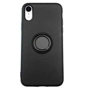 Купить Силиконовый чехол с кольцом iLoungeMax With Ring Black для iPhone XR