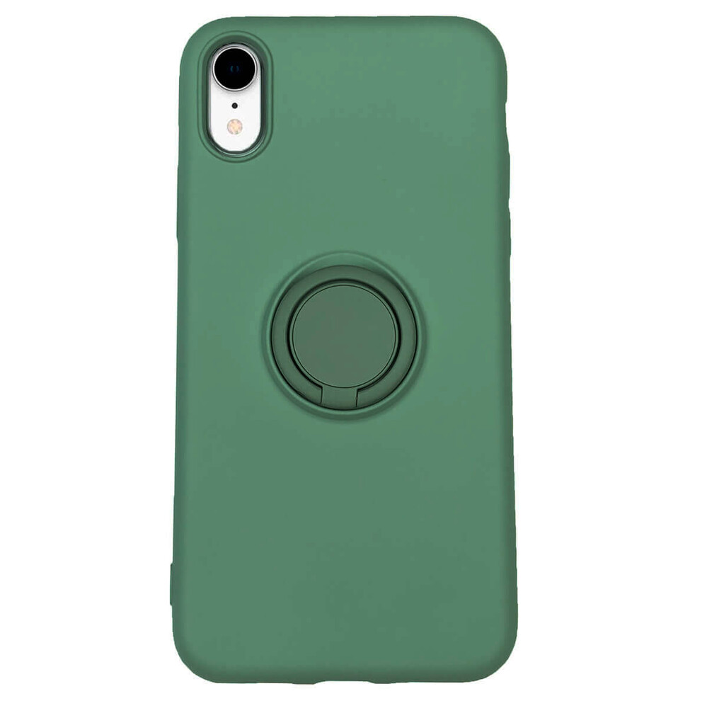Купить Силиконовый чехол с кольцом oneLounge With Ring Forest Green для iPhone XR