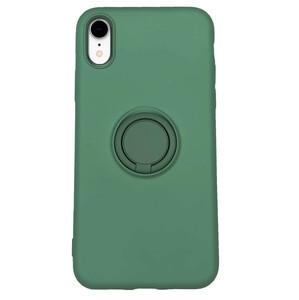 Купить Силиконовый чехол с кольцом iLoungeMax With Ring Forest Green для iPhone XR