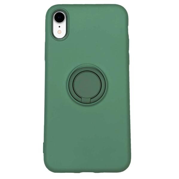 Силиконовый чехол с кольцом iLoungeMax With Ring Forest Green для iPhone XR